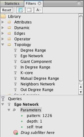 Filter menu top