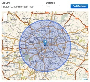 Leaflet JS: Resizing a map to keep a circle diameter inside it
