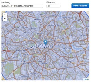 Leaflet JS: Resizing a map to keep a circle diameter inside