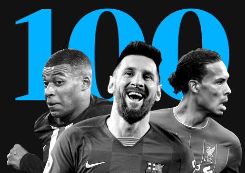 top 100 header