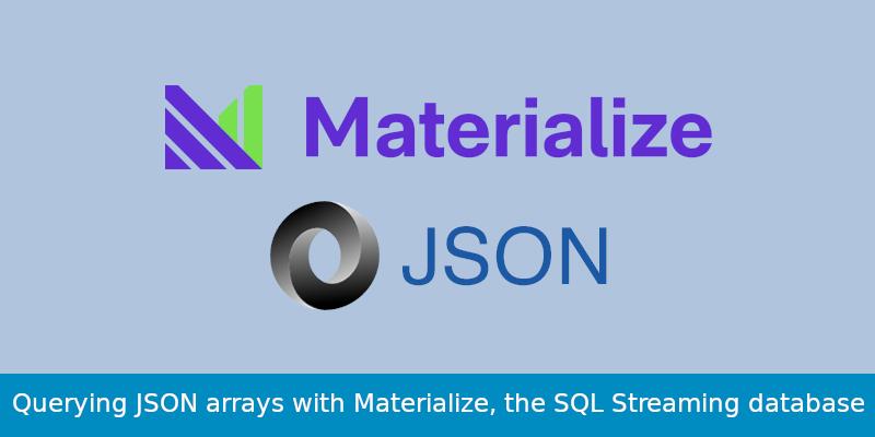 materialize banner json arrays